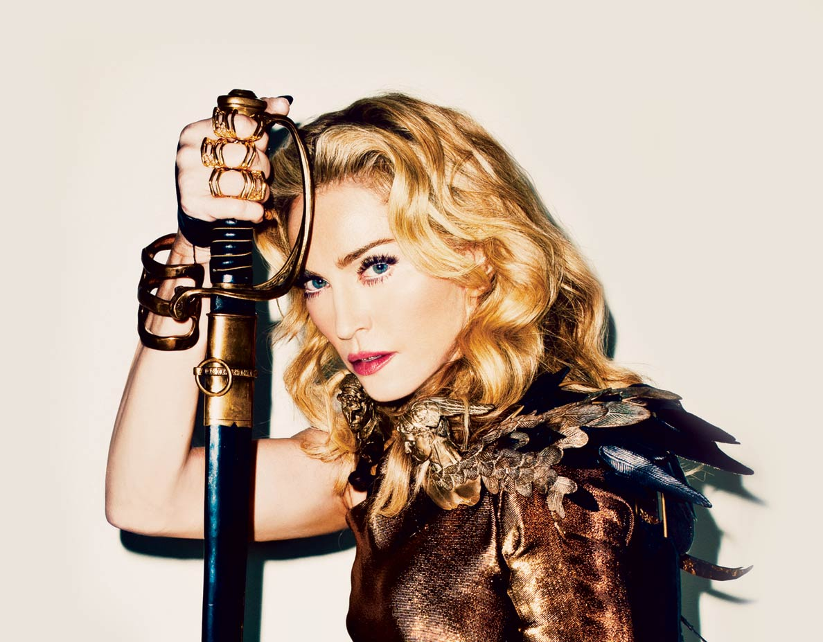 madonna-wearing-bronze-leather-cape